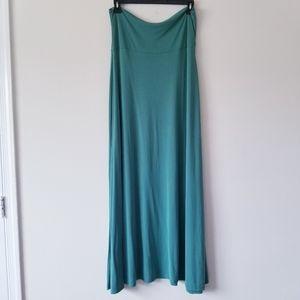 Lularoe Solid Green Maxi Skirt Size XL